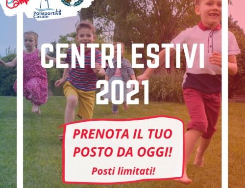 TUTTI PRONTI PER RIPARTIRE CON I CENTRI ESTIVI CASALE 2021!!!